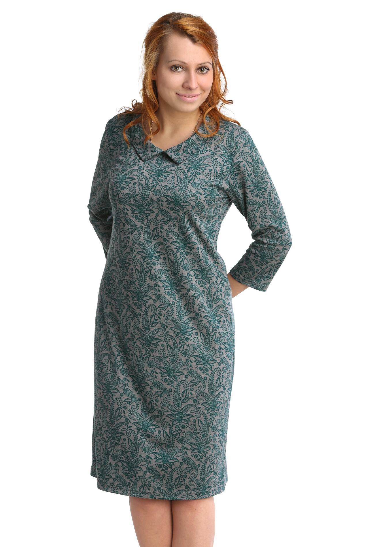 Жен. платье арт. 16-0073 Зеленый р. 50Платья<br>Обхват груди:100 см<br>Обхват талии:82 см<br>Обхват бедер:108 см<br>Длина по спинке:99 см<br>Рост:164-170 см<br><br>Тип: Жен. платье<br>Размер: 50<br>Материал: Интерлок