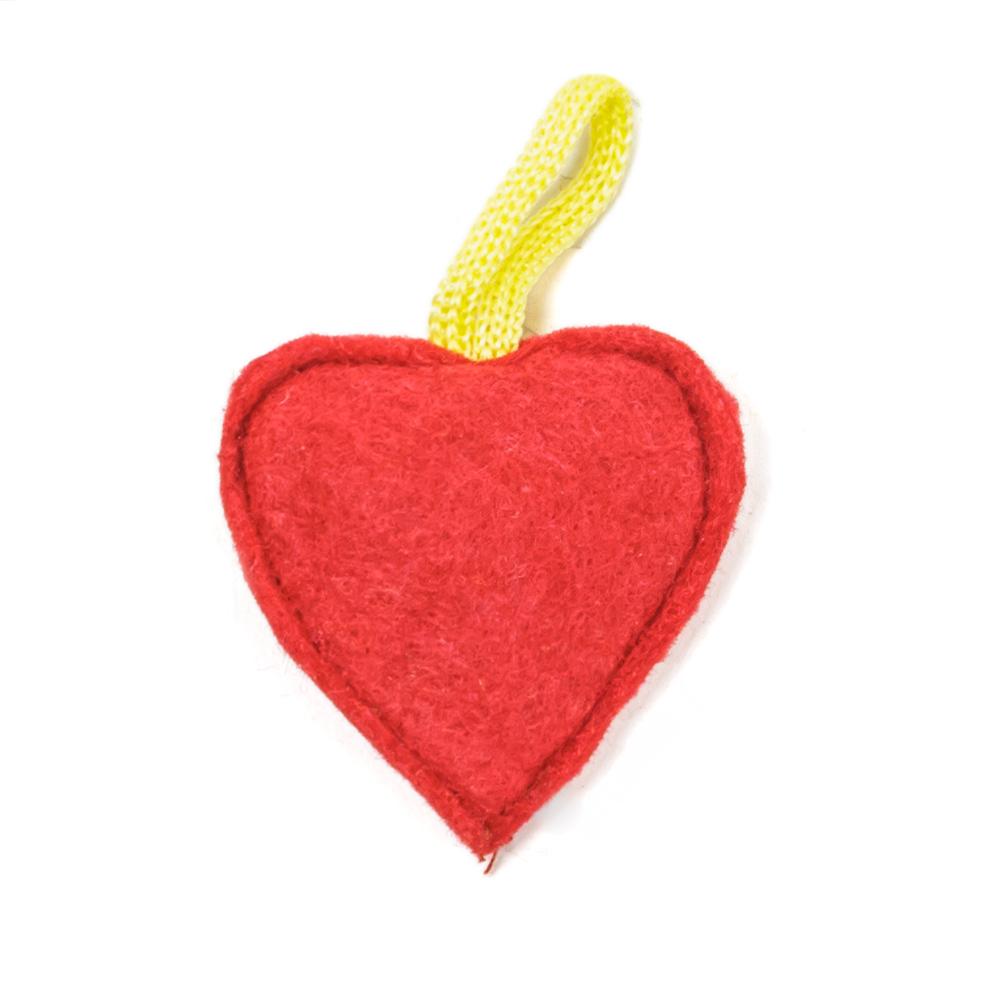 Мини-игрушка СердечкоТовары для животных<br><br><br>Тип: -<br>Размер: -<br>Материал: Войлок