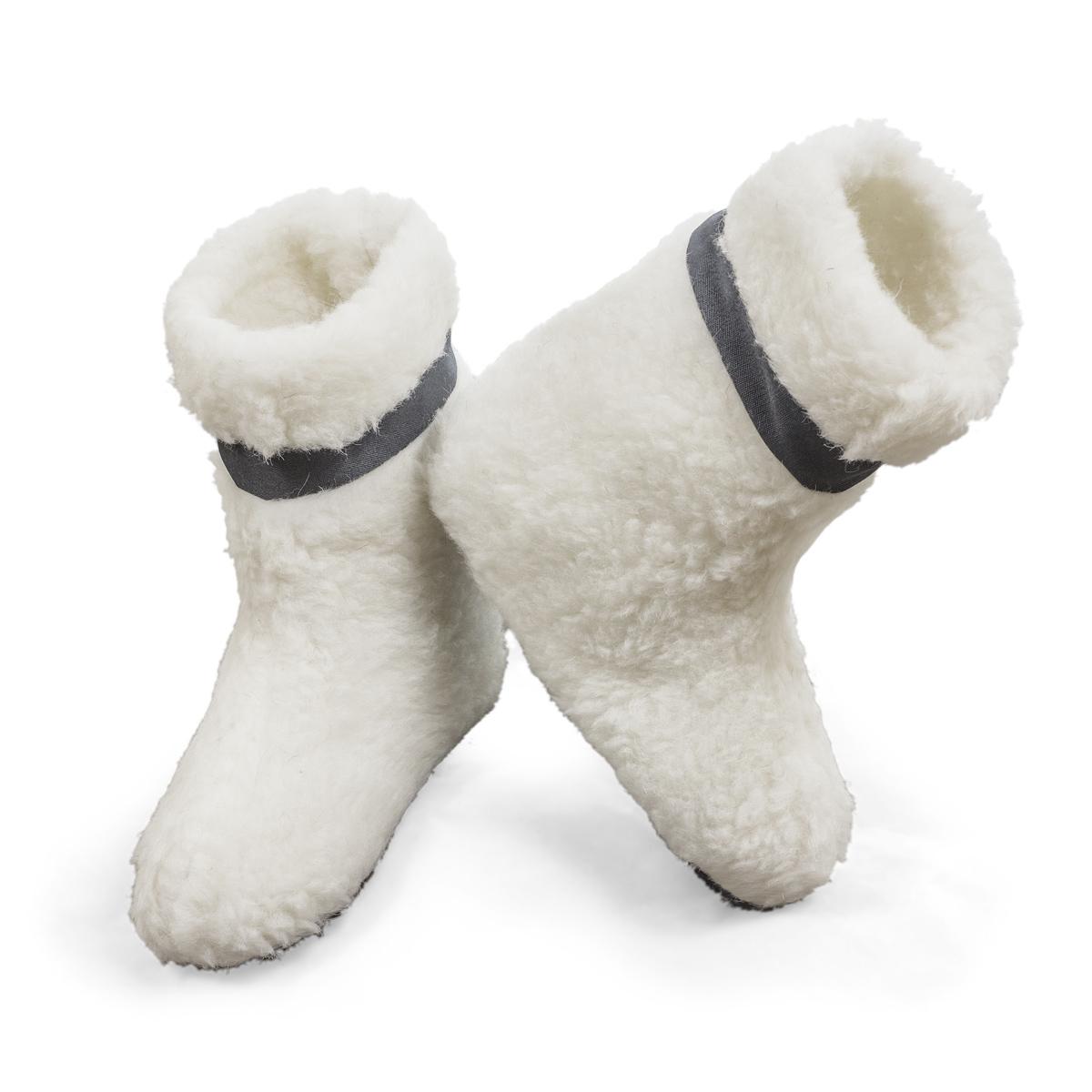 Обувь Овечки р. 40-41Согревающий<br>Длина стельки: 28 см<br><br>Тип: Обувь<br>Размер: 40-41<br>Материал: Овечья шерсть