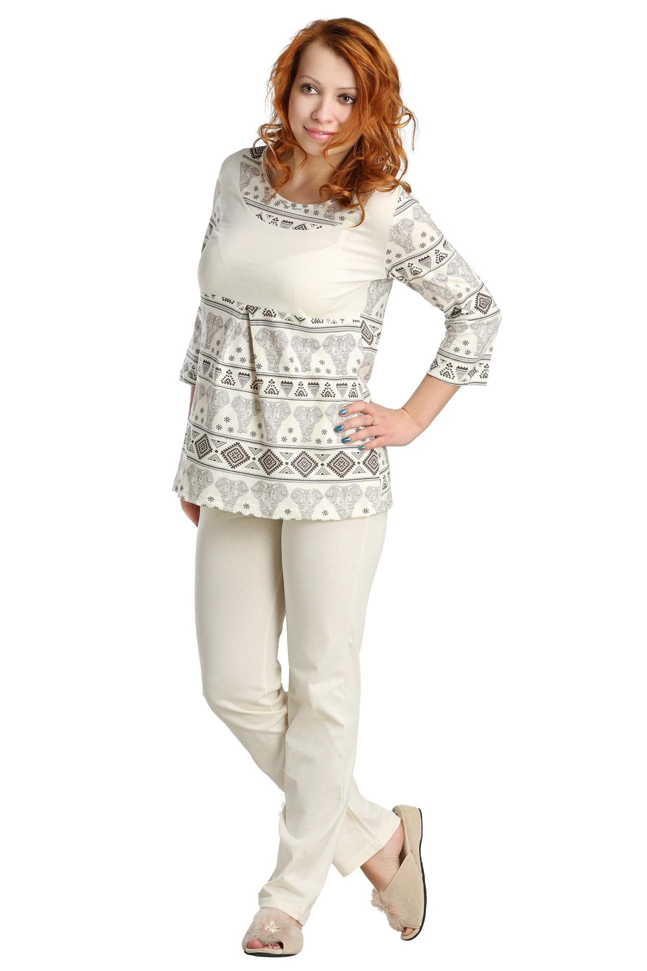 Жен. пижама арт. 16-0087 Молочный р. 44 пижама жен mia cara майка шорты botanical aw15 ubl lst 264 р 42 44 1119503