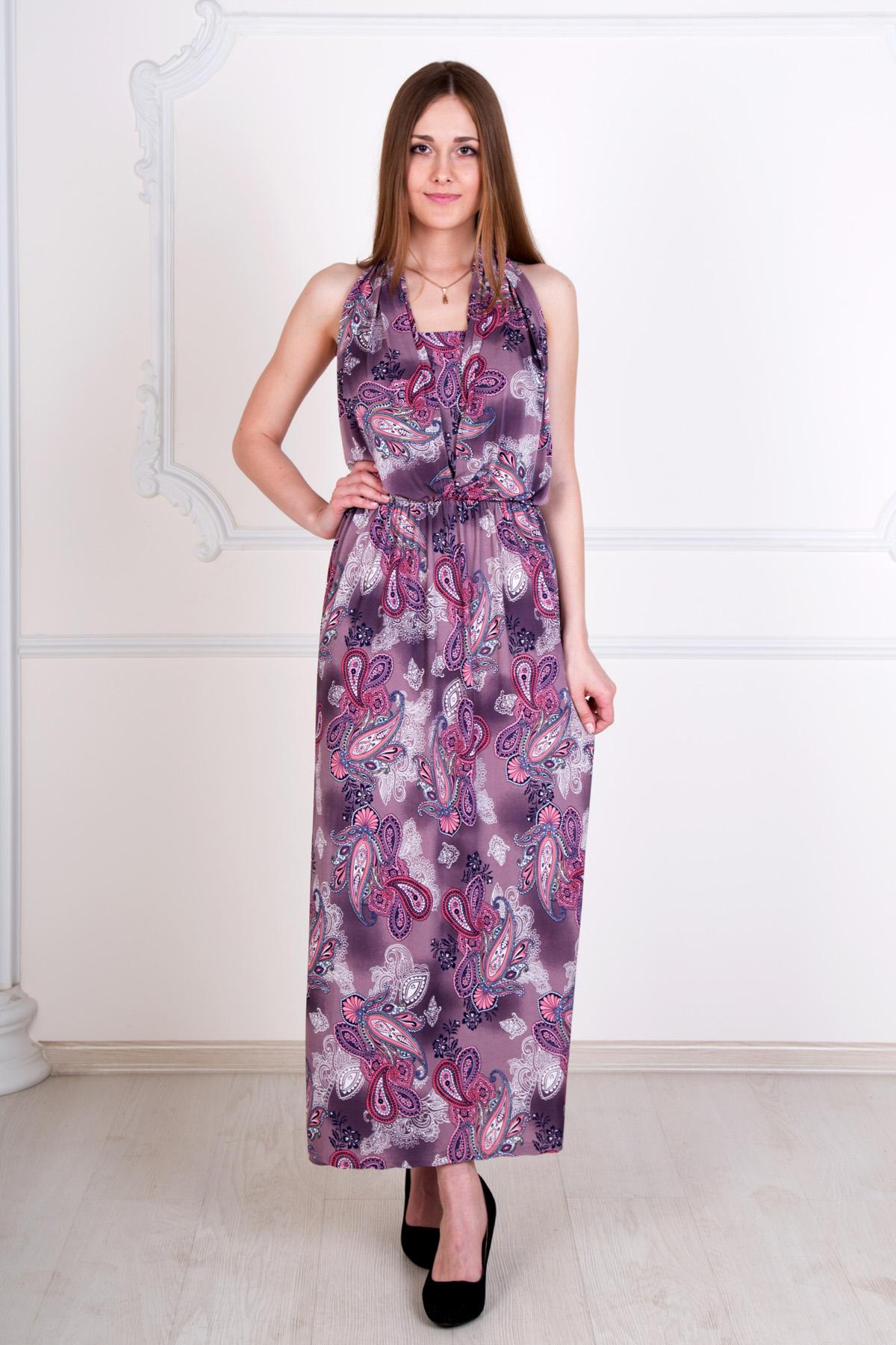 Жен. платье Рандеву р. 46Платья<br>Обхват груди:92 см<br>Обхват талии:74 см<br>Обхват бедер:100 см<br>Длина по спинке:117 см<br>Рост:167 см<br><br>Тип: Жен. платье<br>Размер: 46<br>Материал: Масло