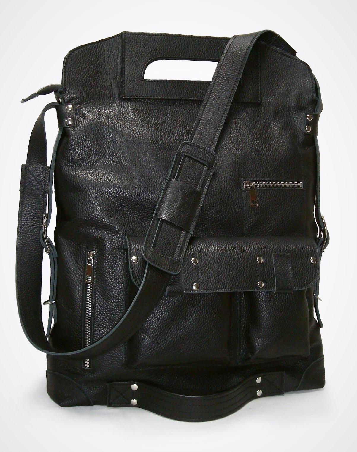 Муж. сумка Модель № 4-5Сумки и др. изделия из кожи<br>Общая высота сумки: 50 см <br>Высота до ручек: 43см <br>Ширина сумки: 36 см <br>Ширина дна: 6 см <br>Длинна ремня: 160 см<br><br>Тип: Муж. сумка<br>Размер: -<br>Материал: Натуральная кожа