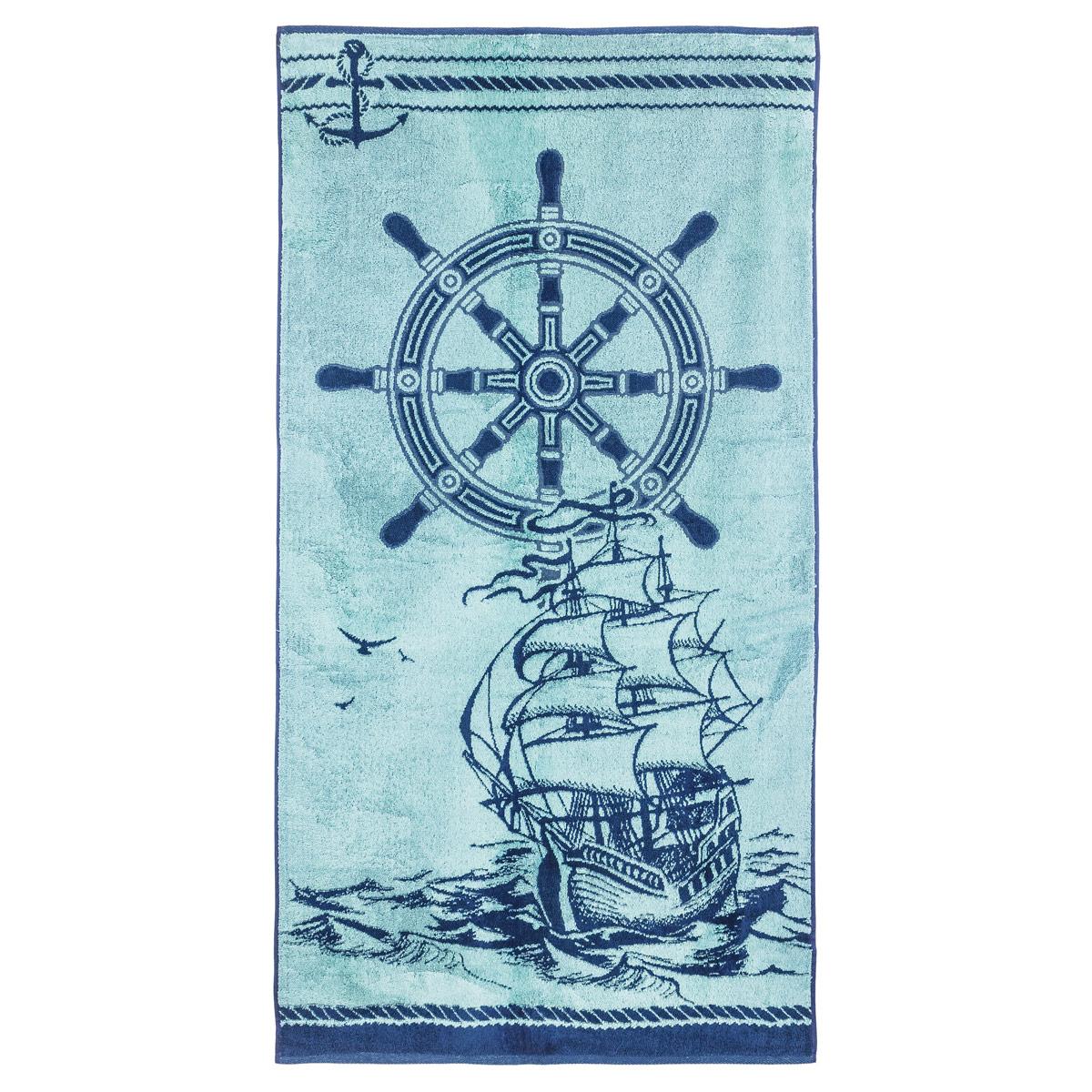 Полотенце Морское р. 70х140Махровые полотенца<br><br><br>Тип: Полотенце<br>Размер: 70х140<br>Материал: Махра