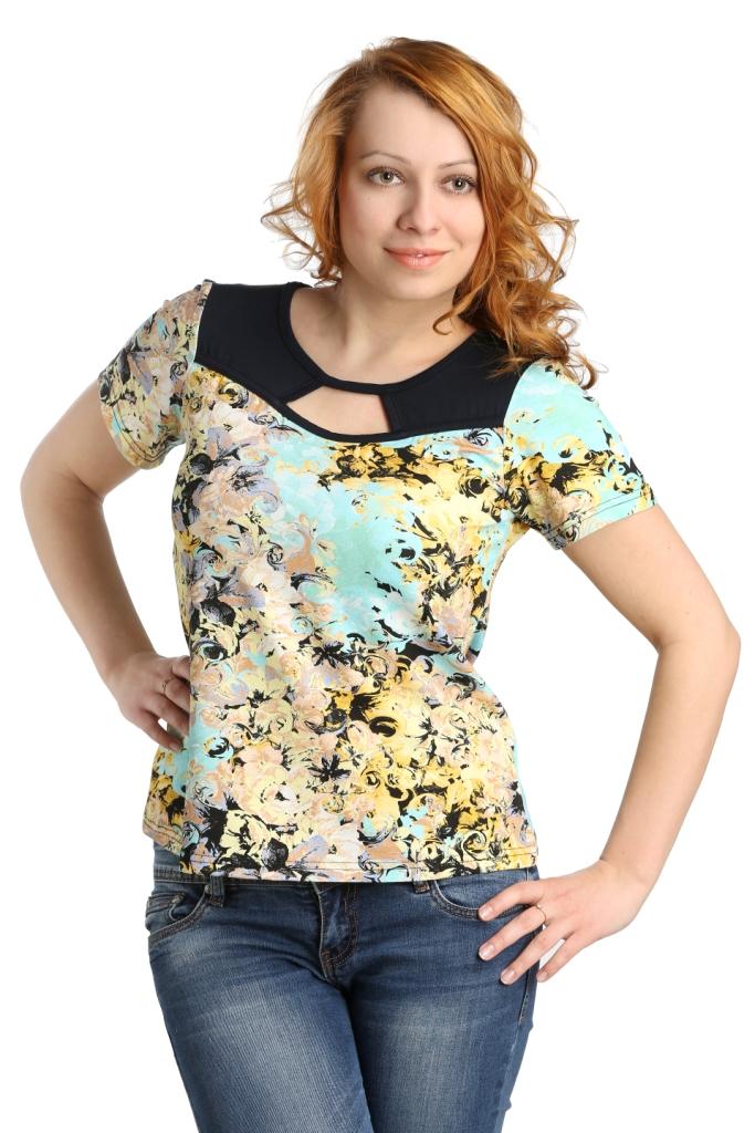 Жен. блуза арт. 16-0101 Ментоловый р. 48Блузы<br>Обхват груди: 96 см <br>Обхват талии: 77 см <br>Обхват бедер: 104 см <br>Длина по спинке: 56 см <br>Рост: 164-170 см<br><br>Тип: Жен. блуза<br>Размер: 48<br>Материал: Вискоза