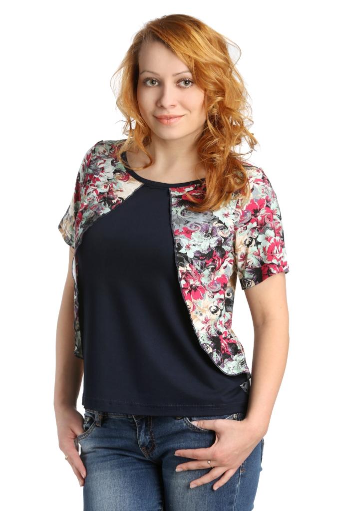 Жен. блуза арт. 16-0105 Малиновый р. 48Блузы<br>Обхват груди: 96 см <br>Обхват талии: 77 см <br>Обхват бедер: 104 см <br>Длина по спинке: 56 см <br>Рост: 164-170 см<br><br>Тип: Жен. блуза<br>Размер: 48<br>Материал: Вискоза