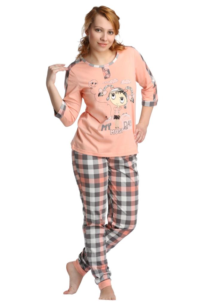 Жен. костюм арт. 16-0098 Персиковый р. 52 - Женская одежда артикул: 22853