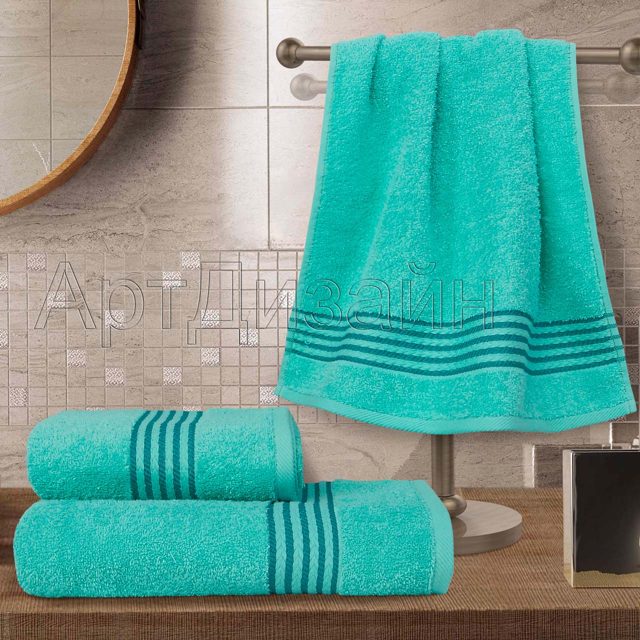 Полотенце Классик Аква р. 40х70Махровые полотенца<br>Плотность: 400 г/кв. м<br><br>Тип: Полотенце<br>Размер: 40х70<br>Материал: Махра
