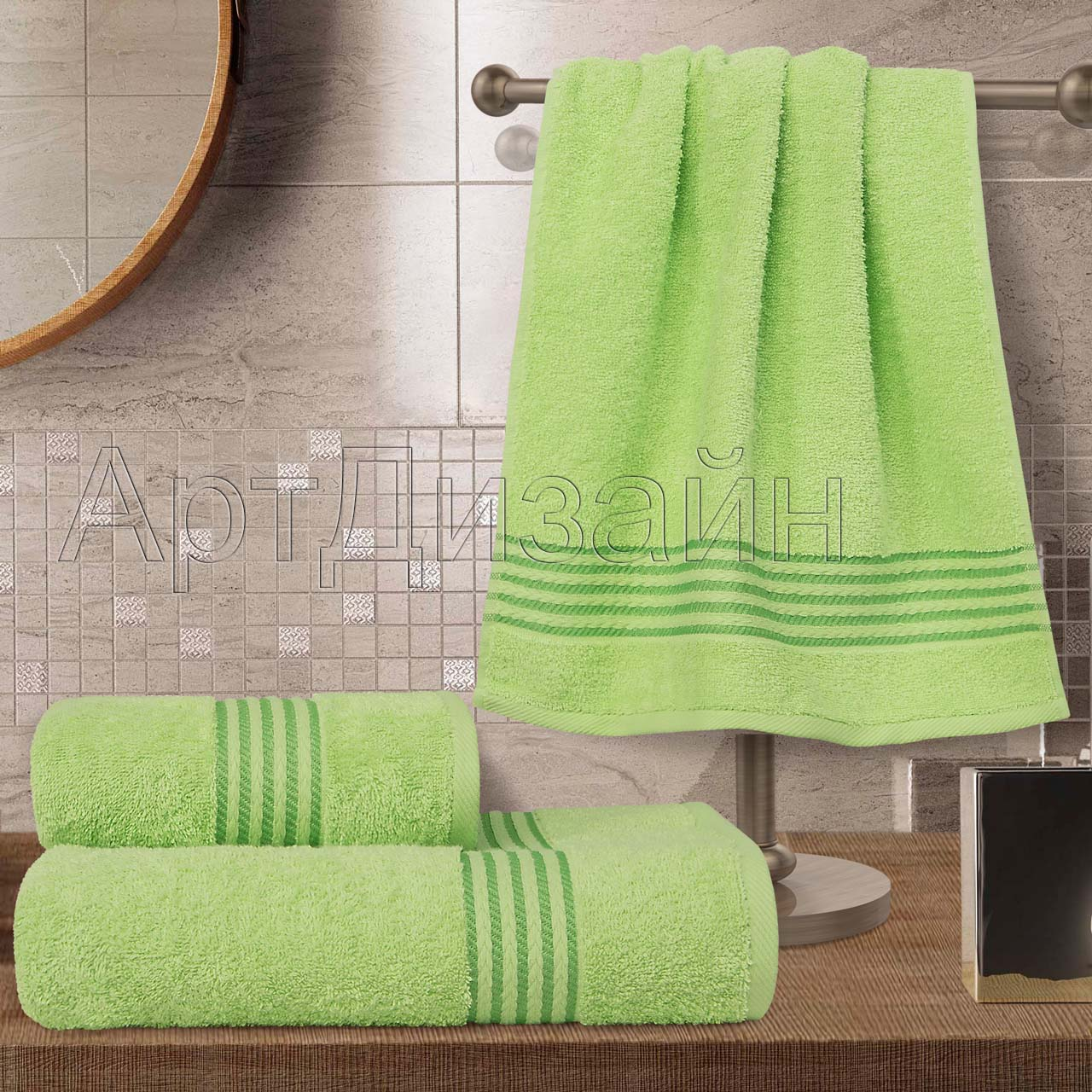Полотенце Классик Светло-зеленый р. 40х70Махровые полотенца<br>Плотность:400 г/кв. м<br><br>Тип: Полотенце<br>Размер: 40х70<br>Материал: Махра