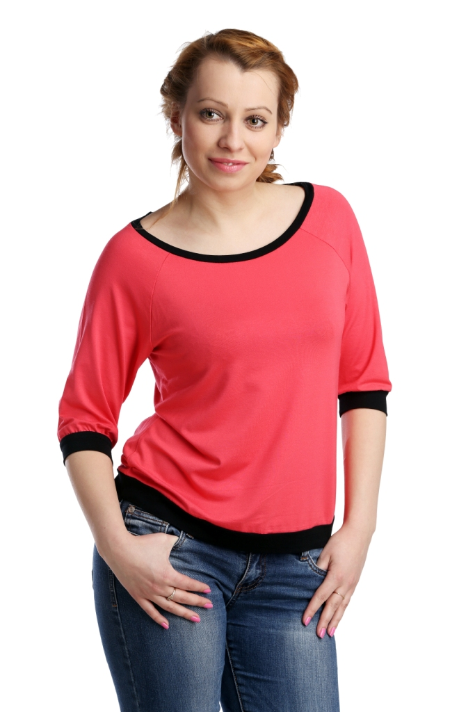 Жен. блуза арт. 16-0118 Коралловый р. 46Блузы<br>Обхват груди: 92 см <br>Обхват талии: 73 см <br>Обхват бедер: 100 см <br>Длина по спинке: 58 см <br>Рост: 164-170 см<br><br>Тип: Жен. блуза<br>Размер: 46<br>Материал: Вискоза