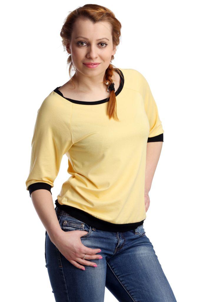 Жен. блуза арт. 16-0118 Желтый р. 44Распродажа женской одежды<br>Обхват груди: 88 см <br>Обхват талии: 69 см <br>Обхват бедер: 96 см <br>Длина по спинке: 57 см <br>Рост: 164-170 см<br><br>Тип: Жен. блуза<br>Размер: 44<br>Материал: Вискоза