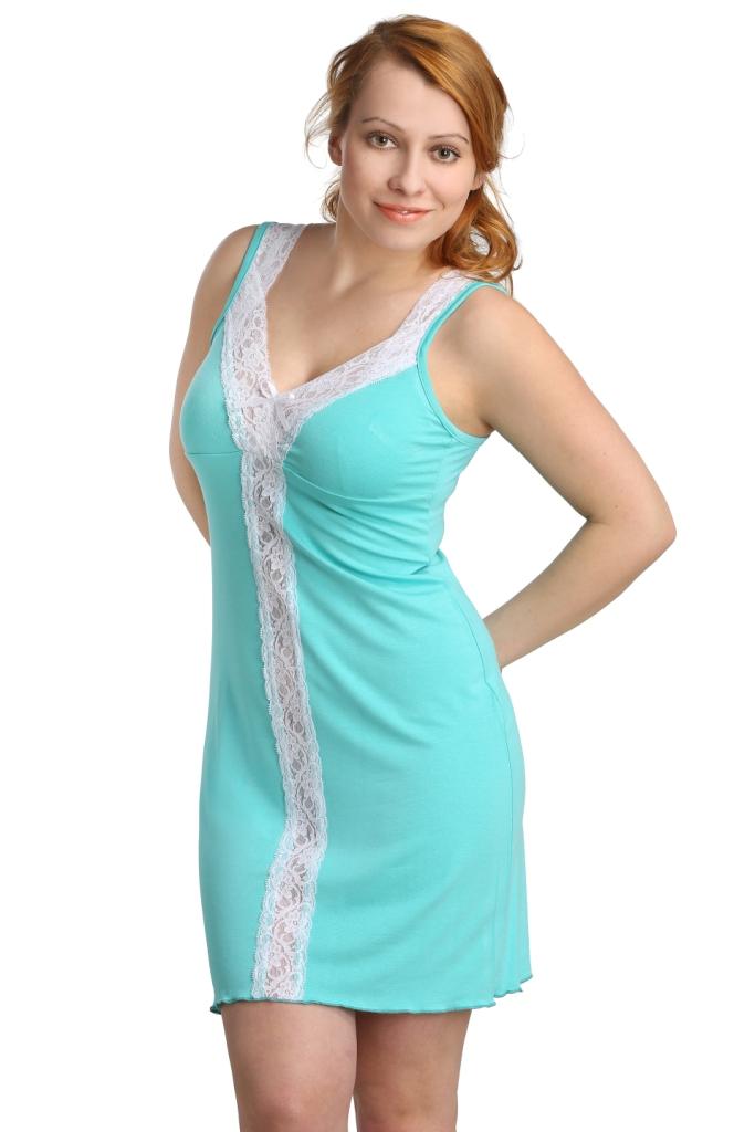 Жен. сорочка арт. 16-0115 Ментоловый р. 48 жен сорочка арт 16 0115 молочный р 50