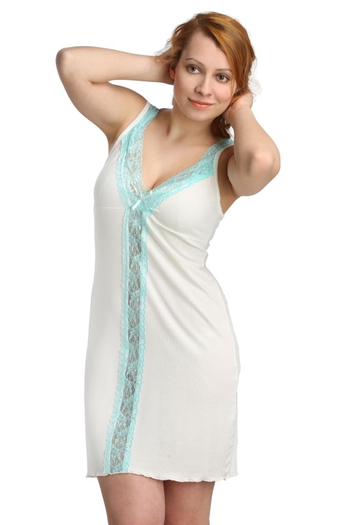 Жен. сорочка арт. 16-0115 Молочный р. 44Ночные сорочки<br>Обхват груди:88 см<br>Обхват талии:69 см<br>Обхват бедер:96 см<br>Длина по спинке:69 см<br>Рост:164-170 см<br><br>Тип: Жен. сорочка<br>Размер: 44<br>Материал: Вискоза