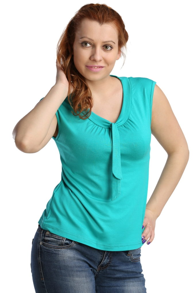 Жен. блуза арт. 16-0123 Изумрудный р. 44Блузы<br>Обхват груди: 88 см <br>Обхват талии: 69 см <br>Обхват бедер: 96 см <br>Длина по спинке: 55 см <br>Рост: 164-170 см<br><br>Тип: Жен. блуза<br>Размер: 44<br>Материал: Вискоза