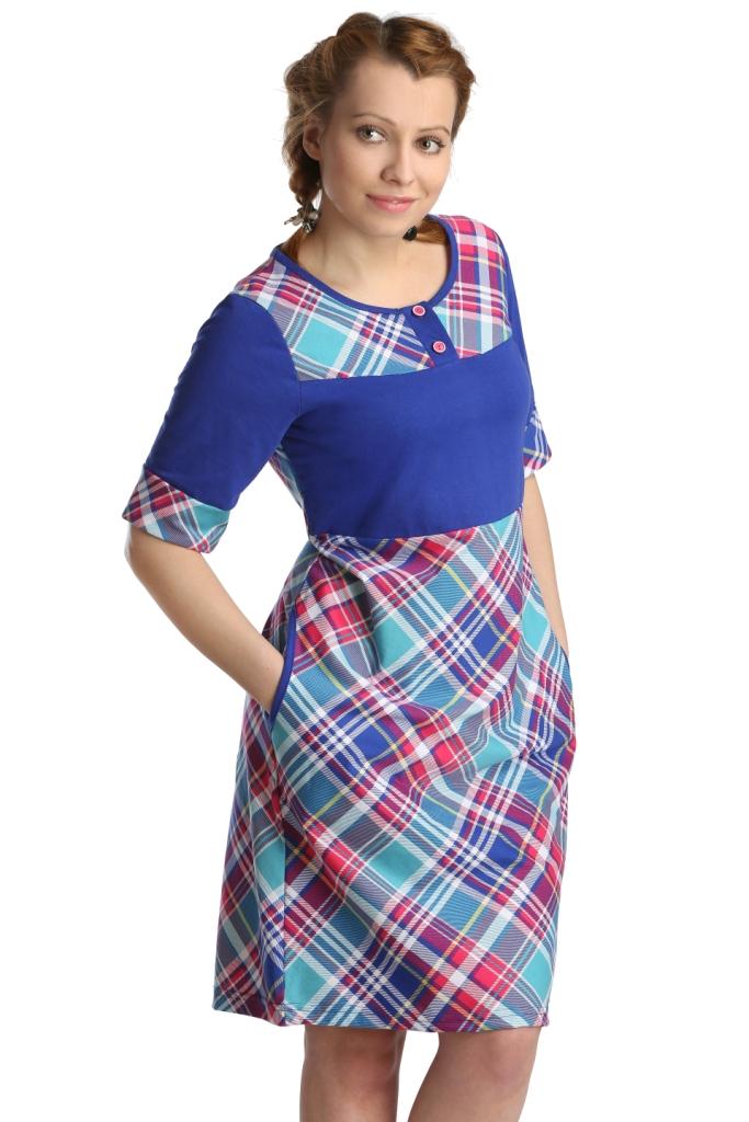 Жен. платье арт. 16-0135 Синий р. 58Платья<br>Обхват груди:116 см<br>Обхват талии:100 см<br>Обхват бедер:124 см<br>Длина по спинке:100 см<br>Рост:164-170 см<br><br>Тип: Жен. платье<br>Размер: 58<br>Материал: Кулирка