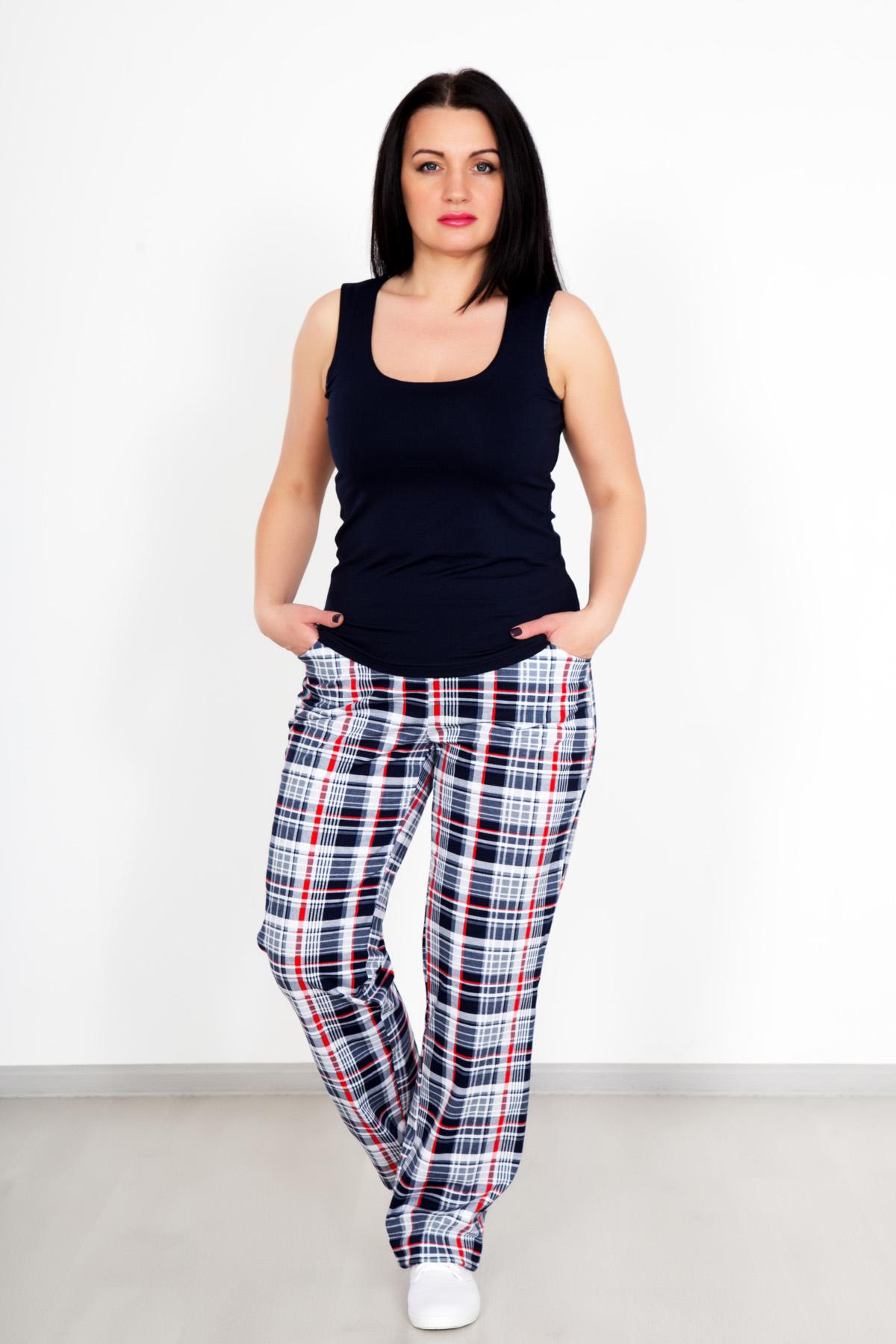 Жен. брюки Уют р. 48Распродажа женской одежды<br>Обхват груди: 96 см <br>Обхват талии: 78 см <br>Обхват бедер: 104 см <br>Высота посадки: 24 см <br>Длина брючин по внут. шву: 79 см <br>Рост: 167 см<br><br>Тип: Жен. брюки<br>Размер: 48<br>Материал: Кулирка