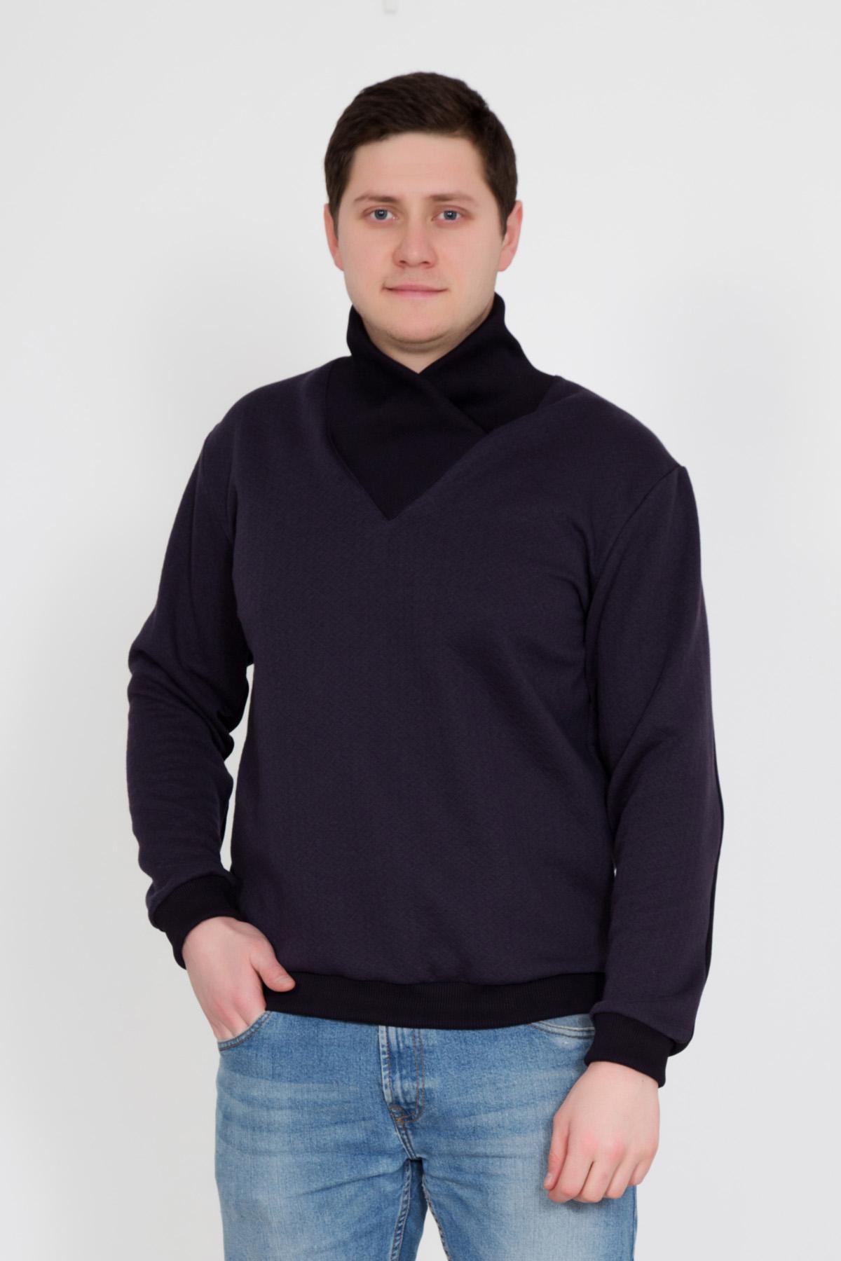 Муж. джемпер  Георгий  Темно-синий р. 52 - Мужская одежда артикул: 23373