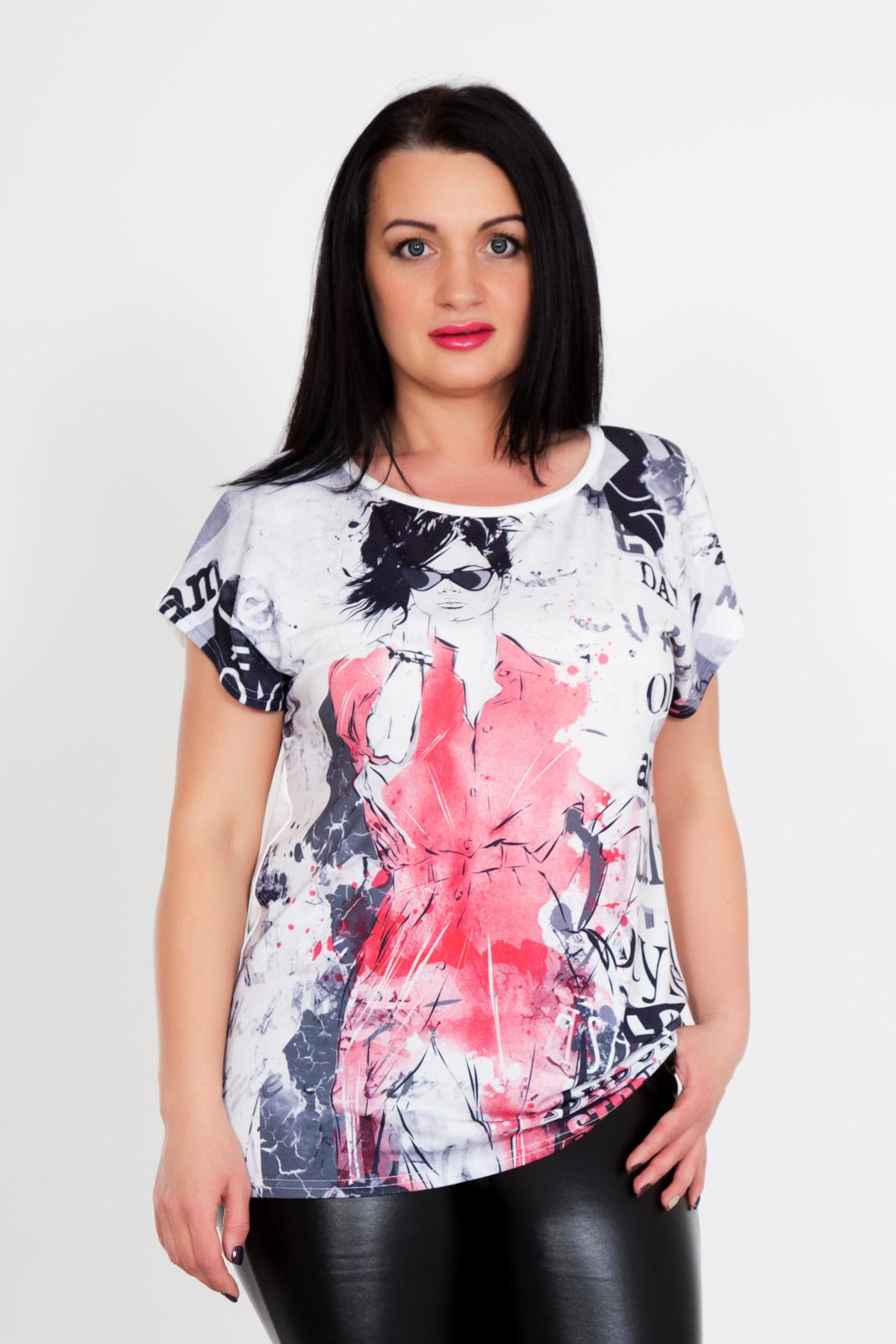 Жен. футболка Тори р. 44Распродажа женской одежды<br>Обхват груди: 88 см <br>Обхват талии: 68 см <br>Обхват бедер: 96 см <br>Длина по спинке: 60 см <br>Рост: 167 см<br><br>Тип: Жен. футболка<br>Размер: 44<br>Материал: Вискоза