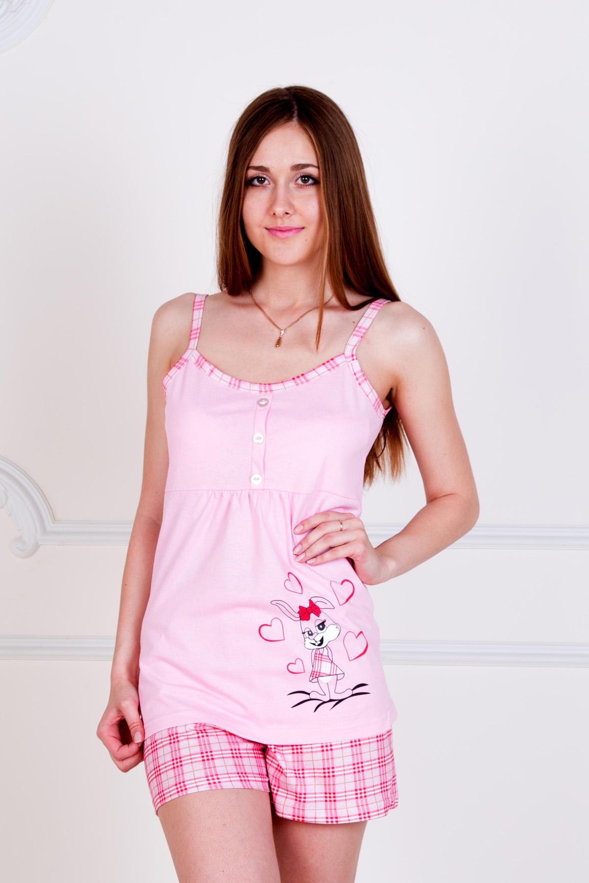 Жен. пижама Зайка Розовый р. 40 пижама жен mia cara майка шорты botanical aw15 ubl lst 264 р 42 44 1119503
