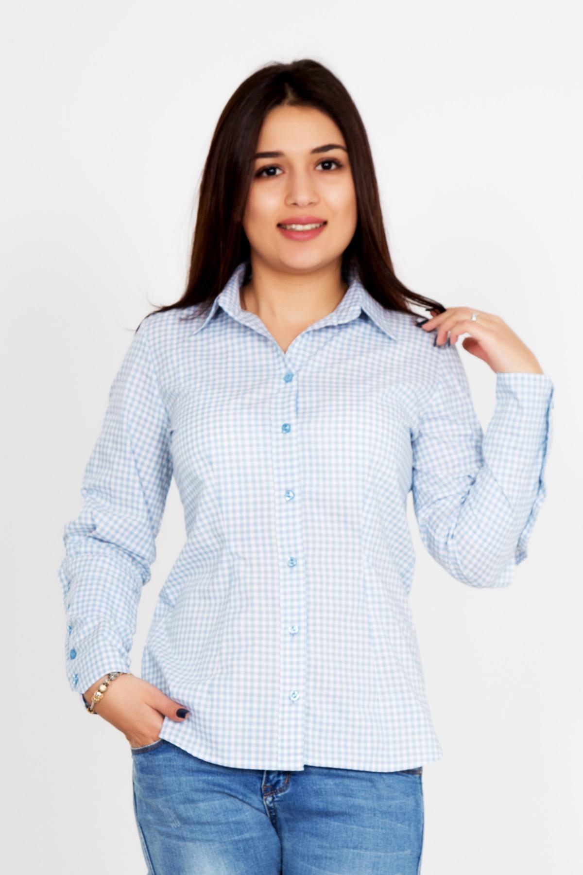 Жен. рубашка Герти р. 54Распродажа женской одежды<br>Обхват груди: 108 см <br>Обхват талии: 88 см <br>Обхват бедер: 116 см <br>Длина по спинке: 70 см <br>Рост: 167 см<br><br>Тип: Жен. рубашка<br>Размер: 54<br>Материал: Шотландка