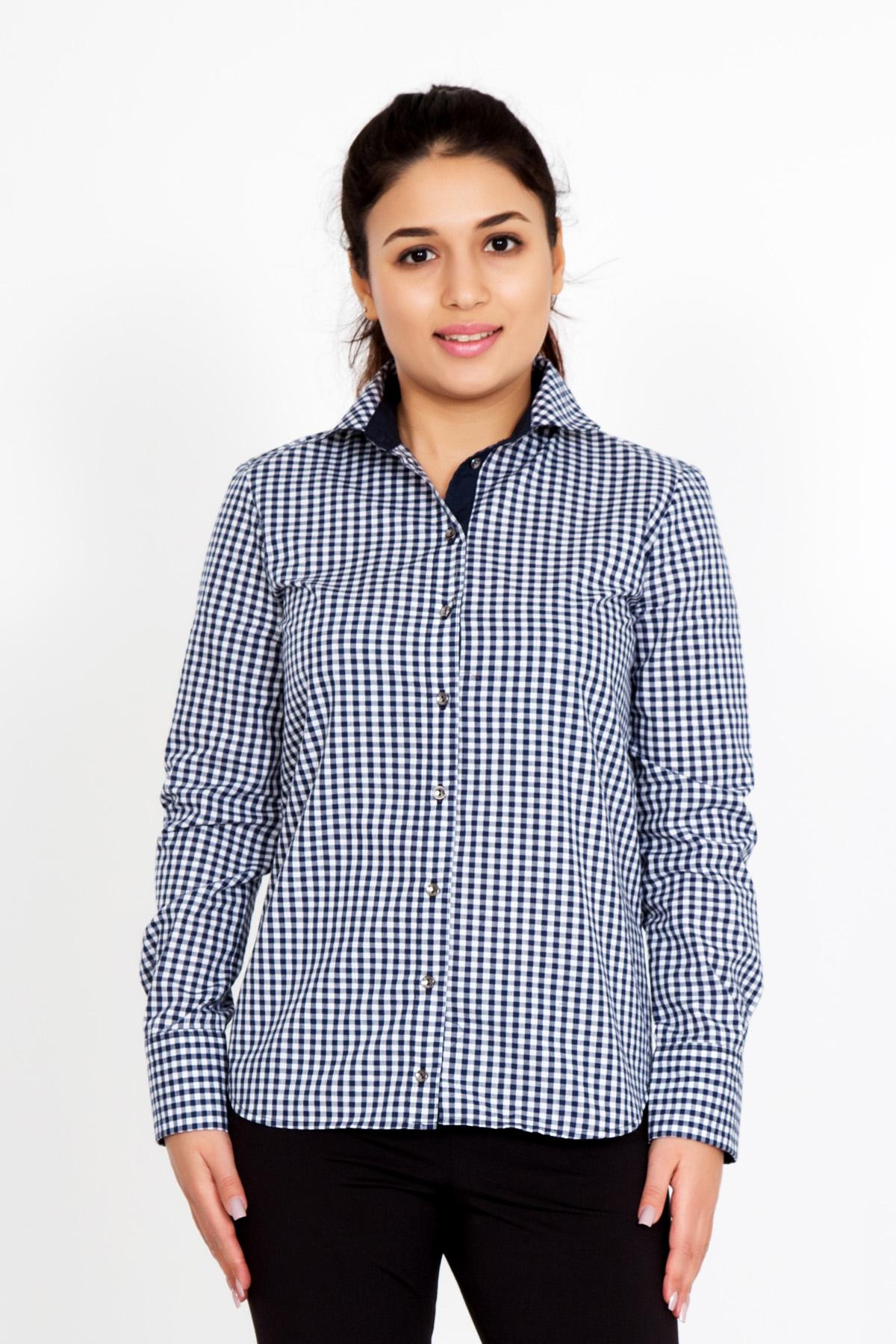 Жен. рубашка  Нидия  Темно-синий р. 50 - Женская одежда артикул: 23508