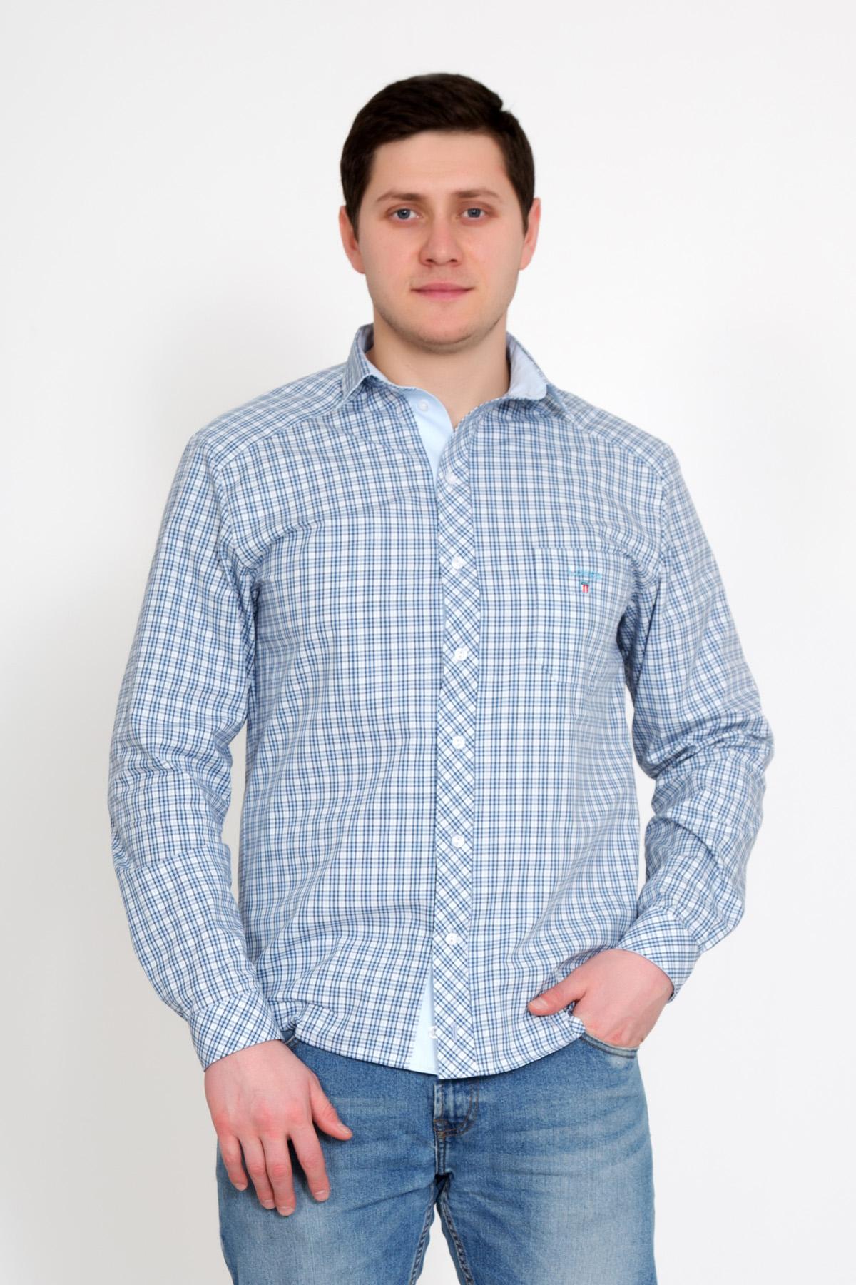 Муж. рубашка  Новик  Голубой р. 56 - Мужская одежда артикул: 23364