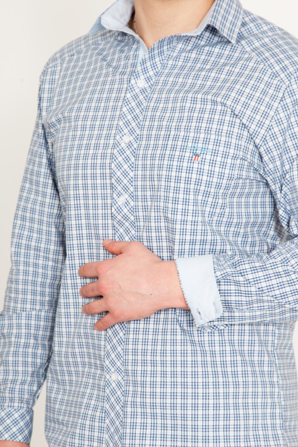 Муж. рубашка новик голубой р. 58