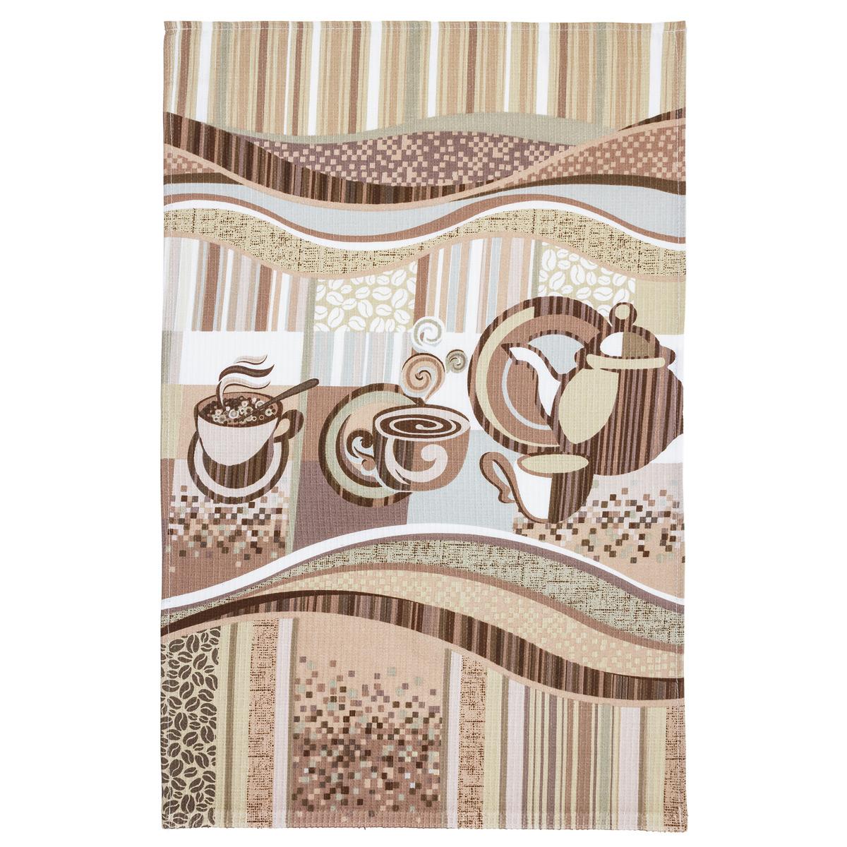 Вафельное полотенце Эспрессо р. 100х150Вафельные полотенца<br>Плотность:150 г/кв. м<br><br>Тип: Вафельное полотенце<br>Размер: 100х150<br>Материал: Вафельное полотно
