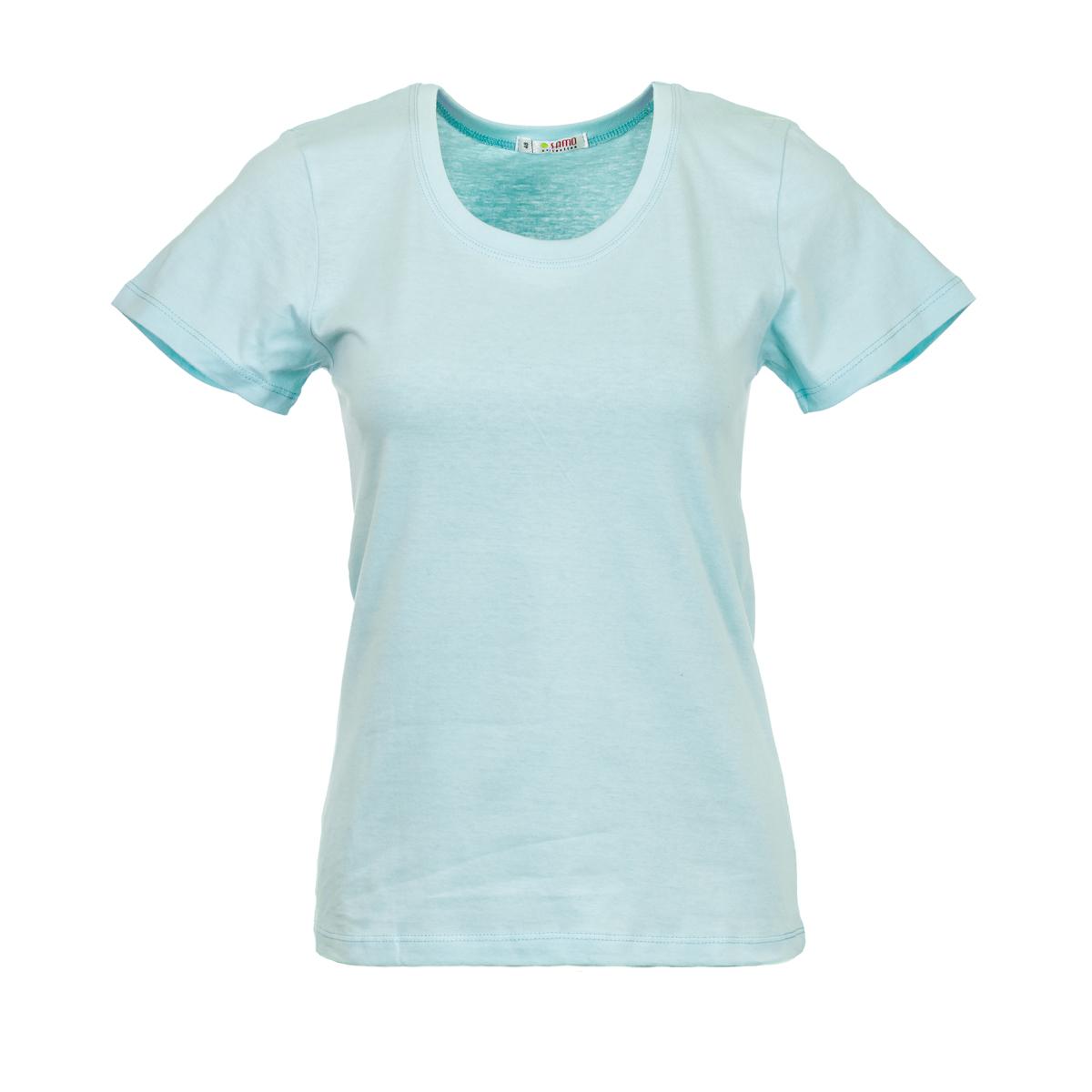 Жен. футболка арт. 04-0045 Коралловый р. 48Майки и футболки<br>Фактический ОГ:80 см<br>Фактический ОТ:78 см<br>Фактический ОБ:90 см<br>Длина по спинке:59 см<br>Рост:164-170 см<br><br>Тип: Жен. футболка<br>Размер: 48<br>Материал: Супрем