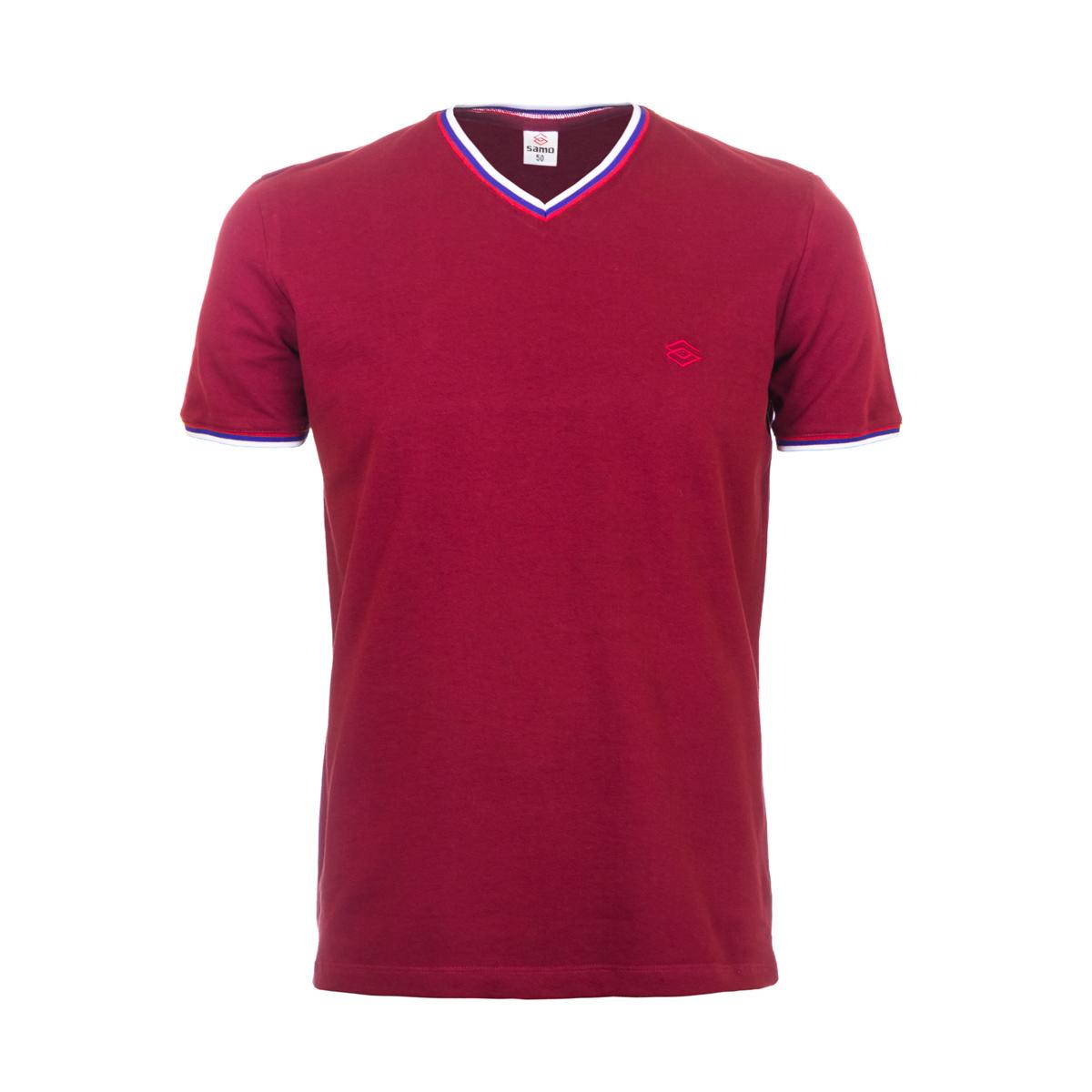 Муж. футболка арт. 04-0059 Красный р. 48Майки и футболки<br>Фактический ОГ:102 см<br>Фактический ОТ:100 см<br>Фактический ОБ:100 см<br>Длина по спинке:69 см<br>Рост:178-188 см<br><br>Тип: Муж. футболка<br>Размер: 48<br>Материал: Пике