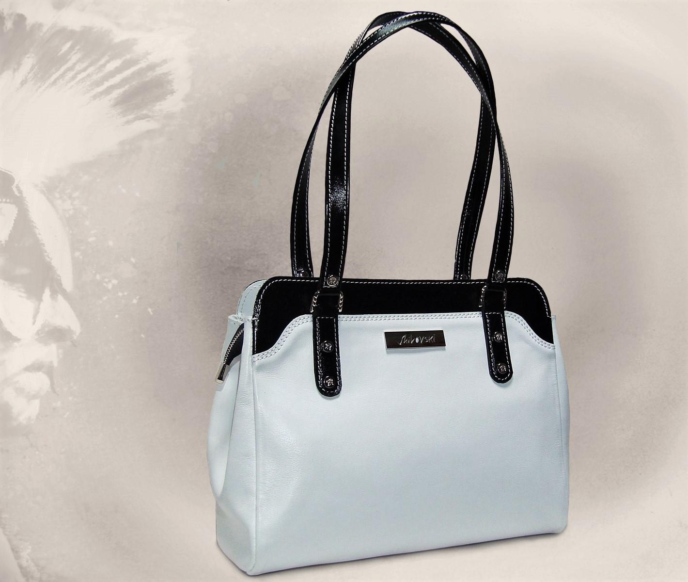 Сумка Модель №41-1Сумки и др. изделия из кожи<br>Высота сумки: 24 см <br>Высота до молнии: 20 см <br>Ширина сумки верх: 29 см <br>Ширина сумки низ: 31 см <br>Ширина сумки сбоку: 12 см <br>Ширина дна: 11 см <br>Длинна ручек: 60 см<br><br>Тип: Сумка<br>Размер: -<br>Материал: Натуральная кожа