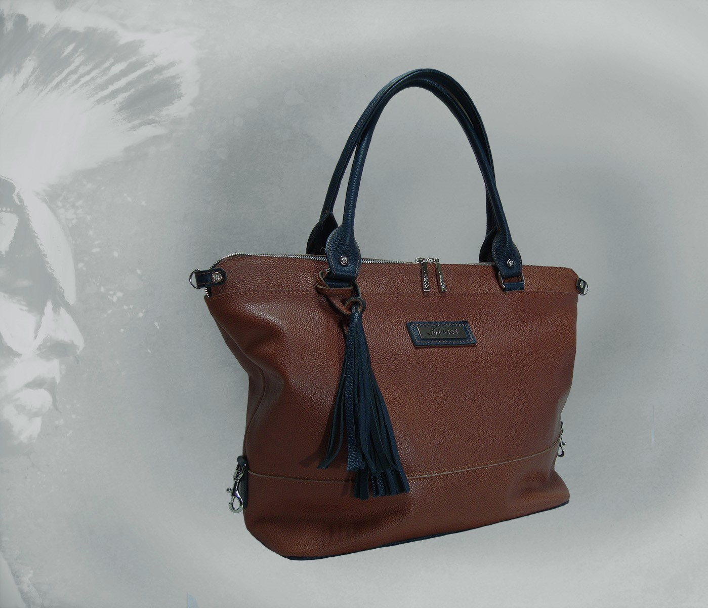 Сумка Модель №43Сумки и др. изделия из кожи<br>Высота сумки:31 см<br>Ширина сумки низ:35 см<br>Ширина сумки верх:47 см<br>Ширина дна:15 см<br>Длинна дна:35 см<br>Длинна ручек:55 см<br><br>Тип: Сумка<br>Размер: -<br>Материал: Натуральная кожа