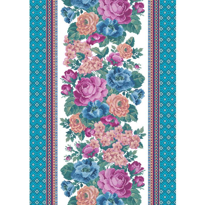 Вафельное полотенце жаклин голубой р. 50х60