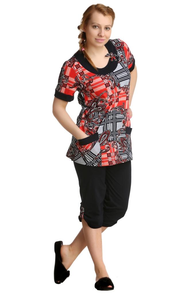 Жен. костюм арт. 16-0151 Коралловый р. 56