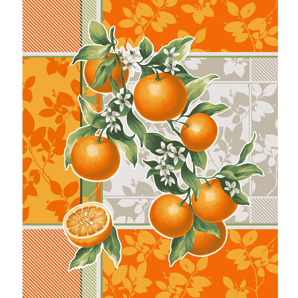 Вафельное полотенце Апельсиновый сад р. 50х60Вафельные полотенца<br>Плотность: 170 г/кв. м<br><br>Тип: Вафельное полотенце<br>Размер: 50х60<br>Материал: Вафельное полотно