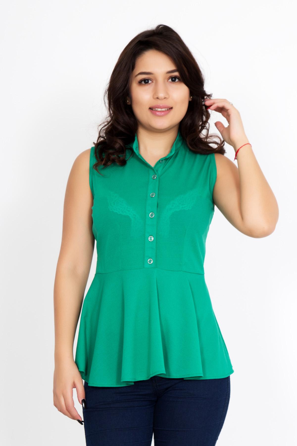 Жен. блуза Дамиана р. 52Распродажа женской одежды<br>Обхват груди: 104 см <br>Обхват талии: 85 см <br>Обхват бедер: 112 см <br>Длина по спинке: 64 см <br>Рост: 167 см<br><br>Тип: Жен. блуза<br>Размер: 52<br>Материал: Креп