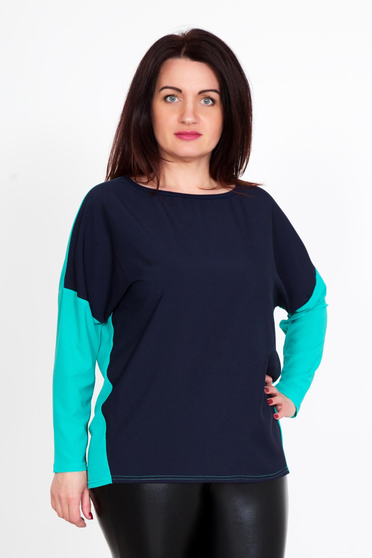 Жен. блуза Наоми р. 58Распродажа женской одежды<br>Обхват груди: 116 см <br>Обхват талии: 97 см <br>Обхват бедер: 124 см <br>Длина по спинке: 69 см <br>Рост: 167 см<br><br>Тип: Жен. блуза<br>Размер: 58<br>Материал: Креп