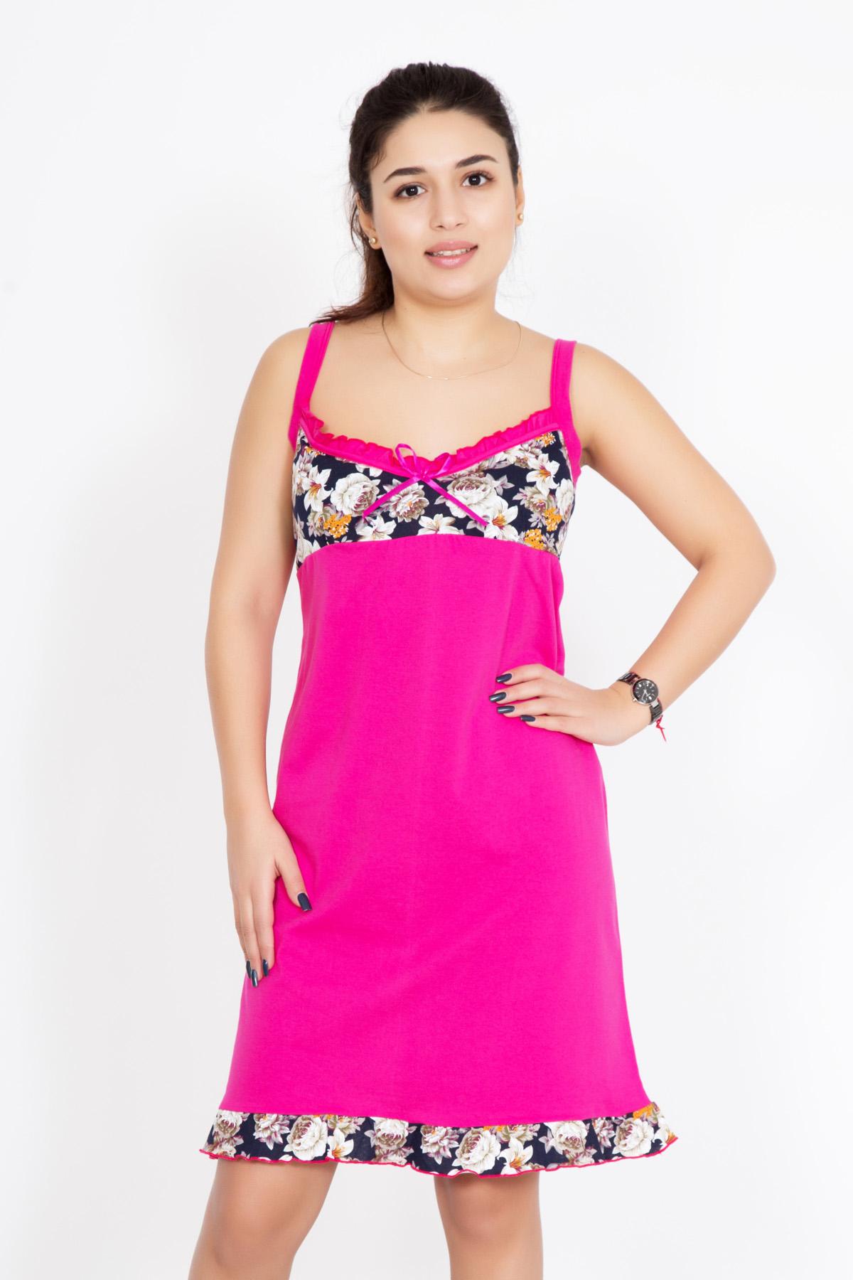 Жен. сорочка  Варвара  Малиновый р. 44 - Женская одежда артикул: 25525