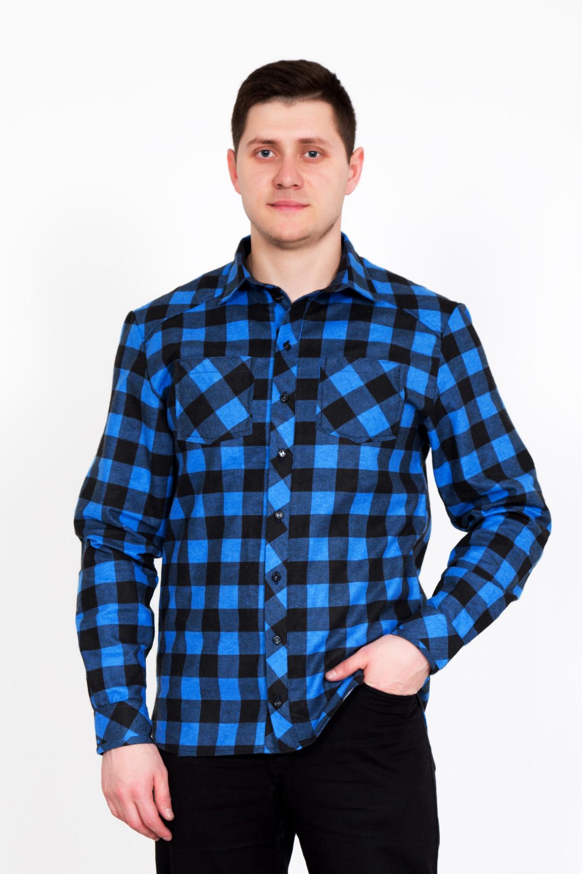 Муж. рубашка  Джулиан  Синий р. 58 - Мужская одежда артикул: 25599