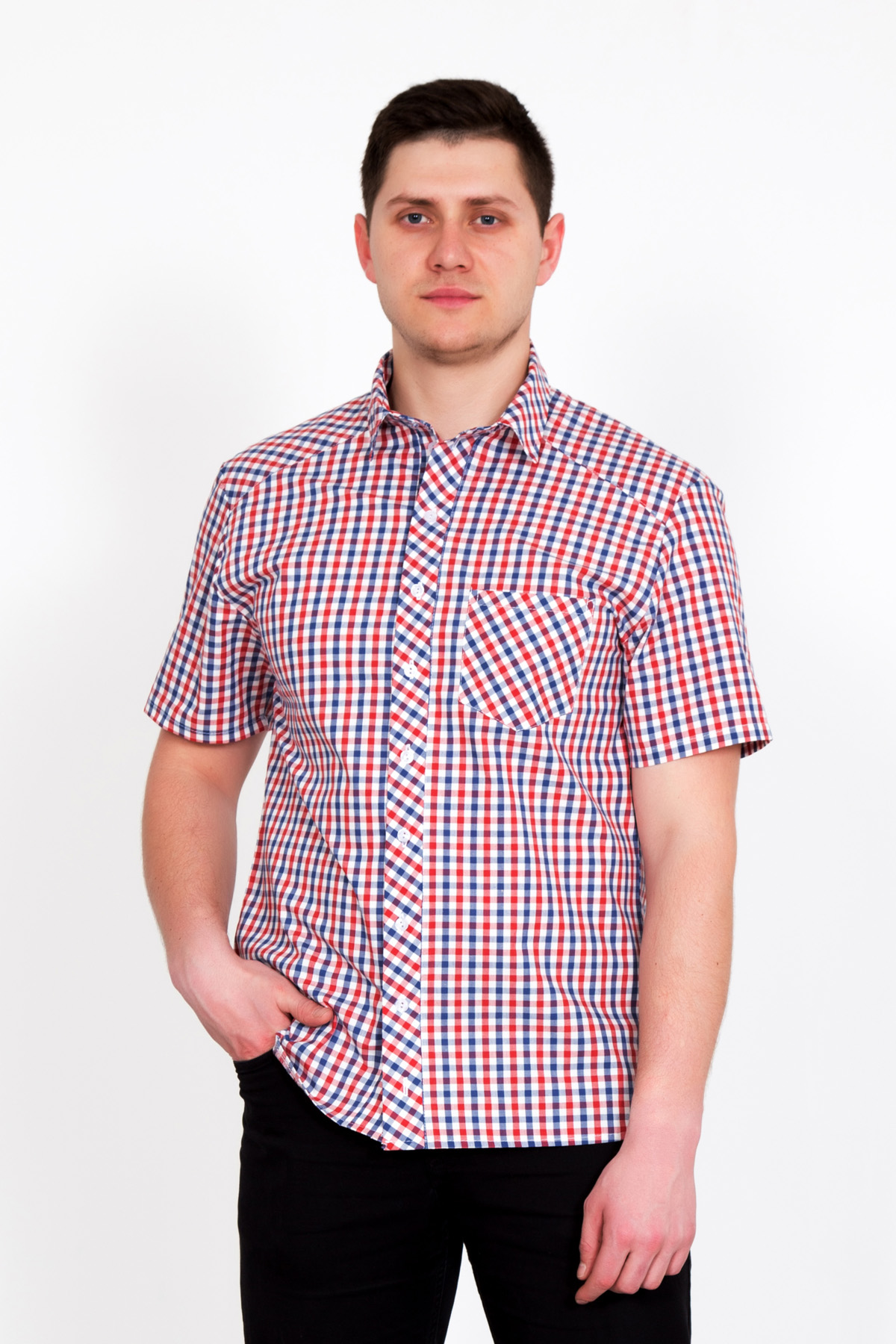 Муж. рубашка Оливер р. 56Рубашки<br>Обхват груди:112 см<br>Обхват талии:104 см<br>Обхват бедер:112 см<br>Длина по спинке:73 см<br>Рост:178-186 см<br><br>Тип: Муж. рубашка<br>Размер: 56<br>Материал: Сорочечная перкаль