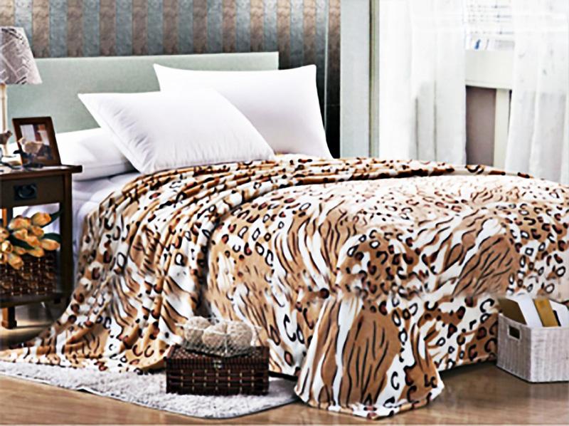 Плед Леопард р. 180х200Покрывала<br>Плотность ткани: 200 г/кв. М<br><br>Тип: Плед<br>Размер: 180х200<br>Материал: Велсофт