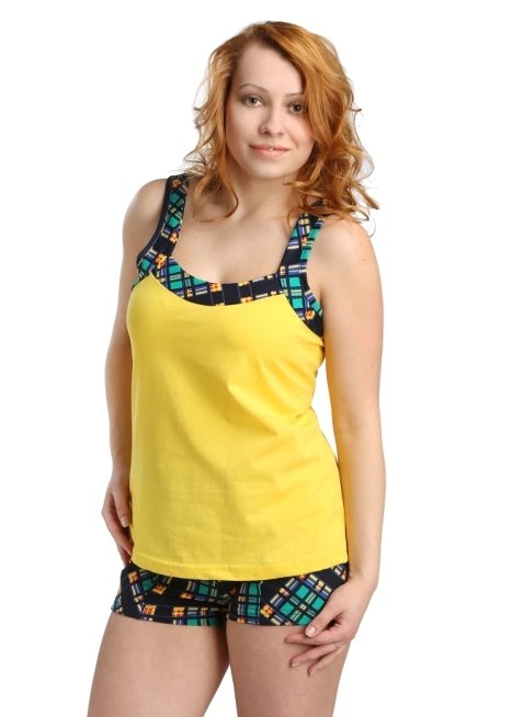 Жен. костюм арт. 16-0170 Зелено-желтый р. 52 фиксатор гибкий storage цвет черный желтый длина 86 см