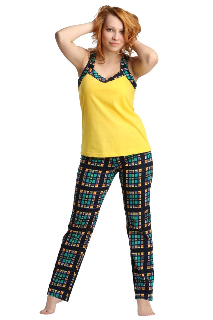 Жен. костюм арт. 16-0171 Зелено-желтый р. 52 фиксатор гибкий storage цвет черный желтый длина 86 см