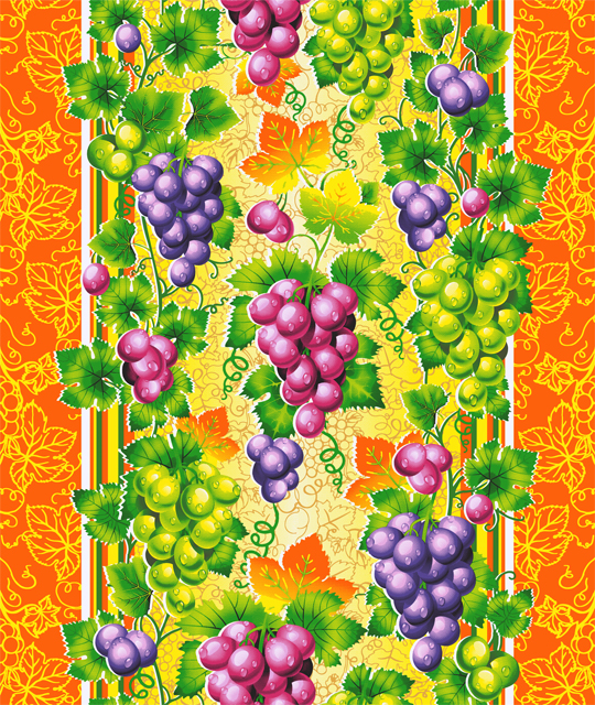 """Вафельное полотенце """"Виноград"""" р. 50х70 — Виноград"""