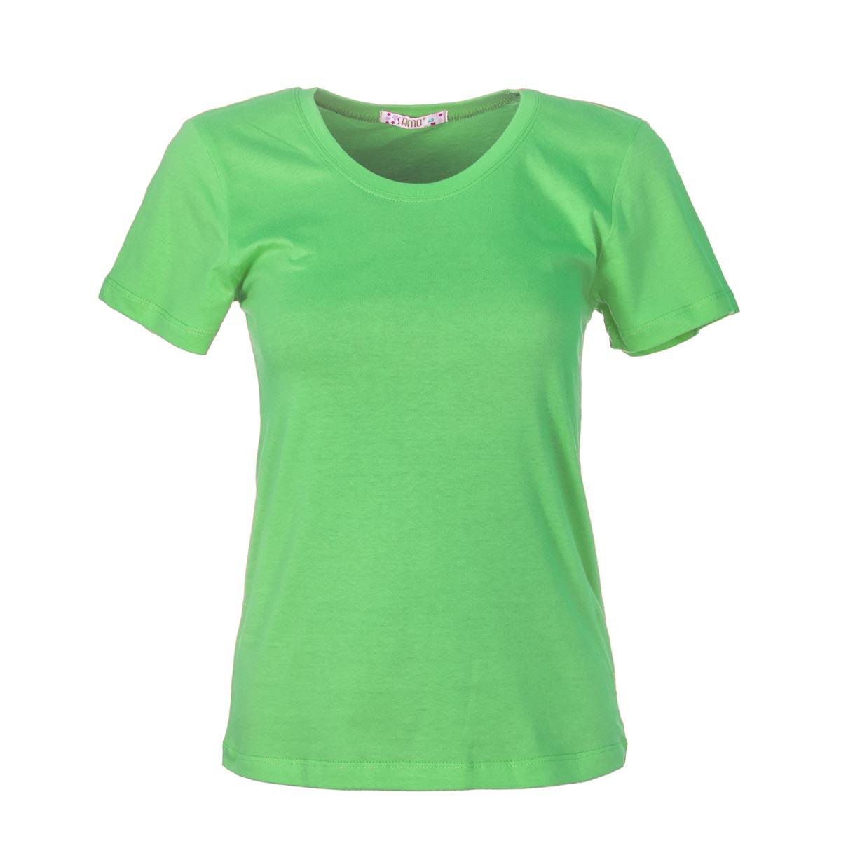 Жен. футболка арт. 04-0045 Зеленый р. 52Майки и футболки<br>Фактический ОГ:90 см<br>Фактический ОТ:88 см<br>Фактический ОБ:98 см<br>Длина по спинке:62 см<br>Рост:164-170 см<br><br>Тип: Жен. футболка<br>Размер: 52<br>Материал: Супрем