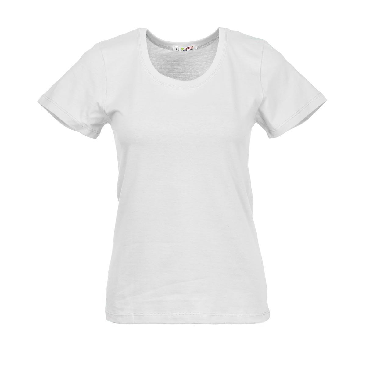 Жен. футболка арт. 04-0045 Белый р. 50Майки и футболки<br>Фактический ОГ:84 см<br>Фактический ОТ:82 см<br>Фактический ОБ:94 см<br>Длина по спинке:59 см<br>Рост:164-170 см<br><br>Тип: Жен. футболка<br>Размер: 50<br>Материал: Супрем