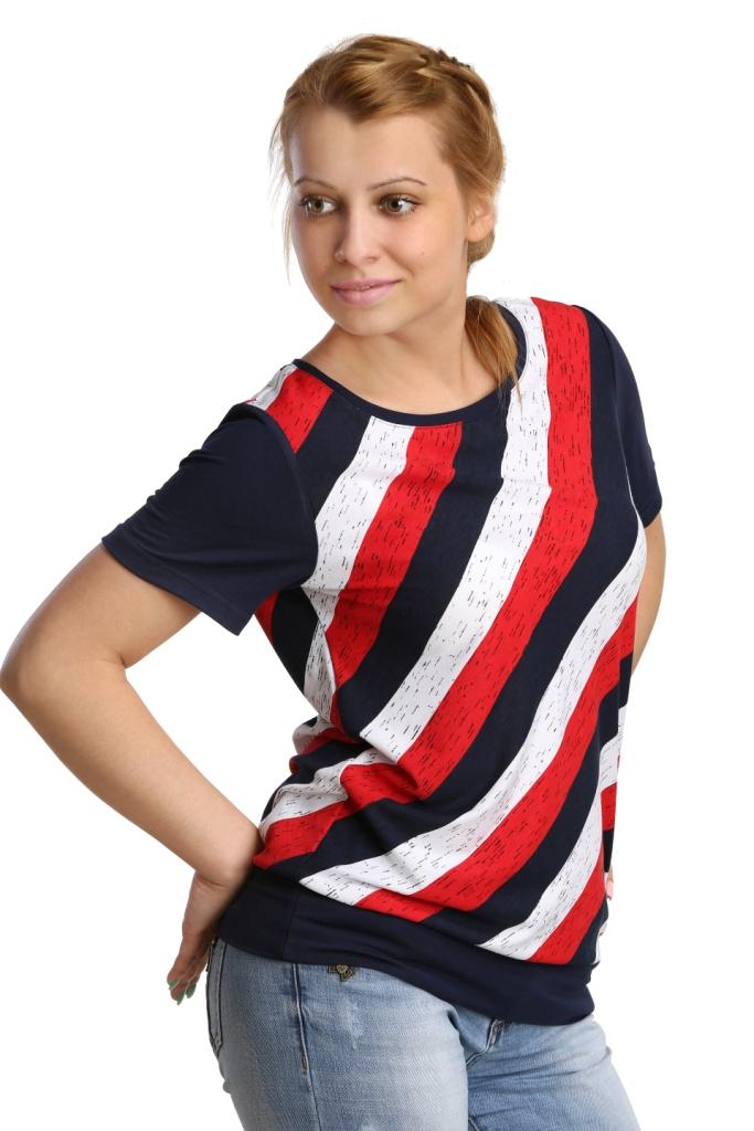 Жен. блуза арт. 16-0172 Красный р. 54Блузы<br>Обхват груди: 108 см <br>Обхват талии: 90 см <br>Обхват бедер: 116 см <br>Длина по спинке: 64 см <br>Рост: 164-170 см<br><br>Тип: Жен. блуза<br>Размер: 54<br>Материал: Вискоза