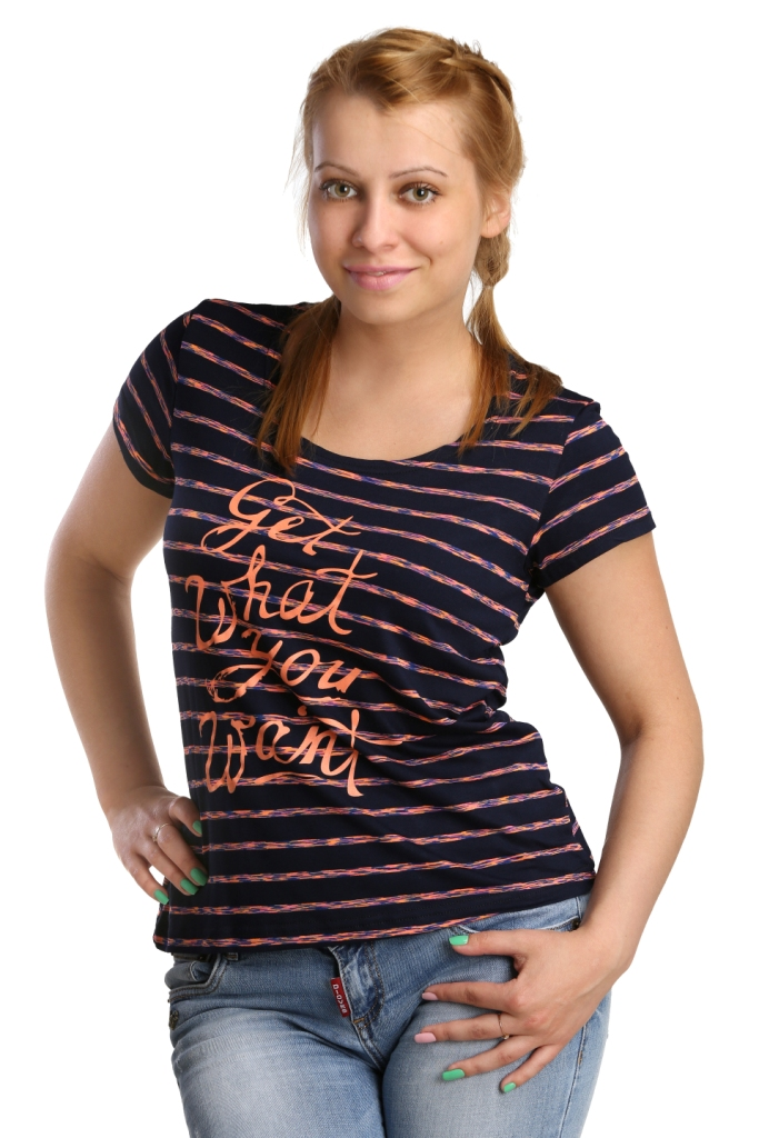 Жен. футболка арт. 16-0174 Коралловый р. 46 - Женская одежда артикул: 26102