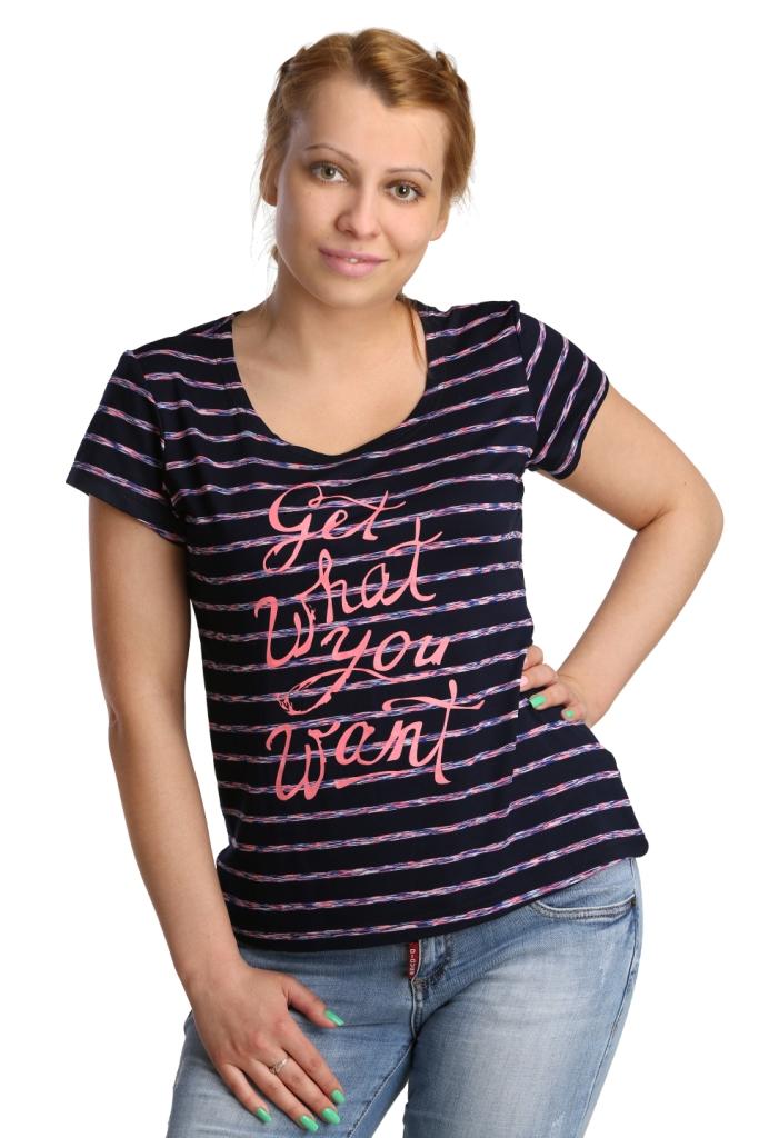 Жен. футболка арт. 16-0174 Розовый р. 52 - Женская одежда артикул: 26110