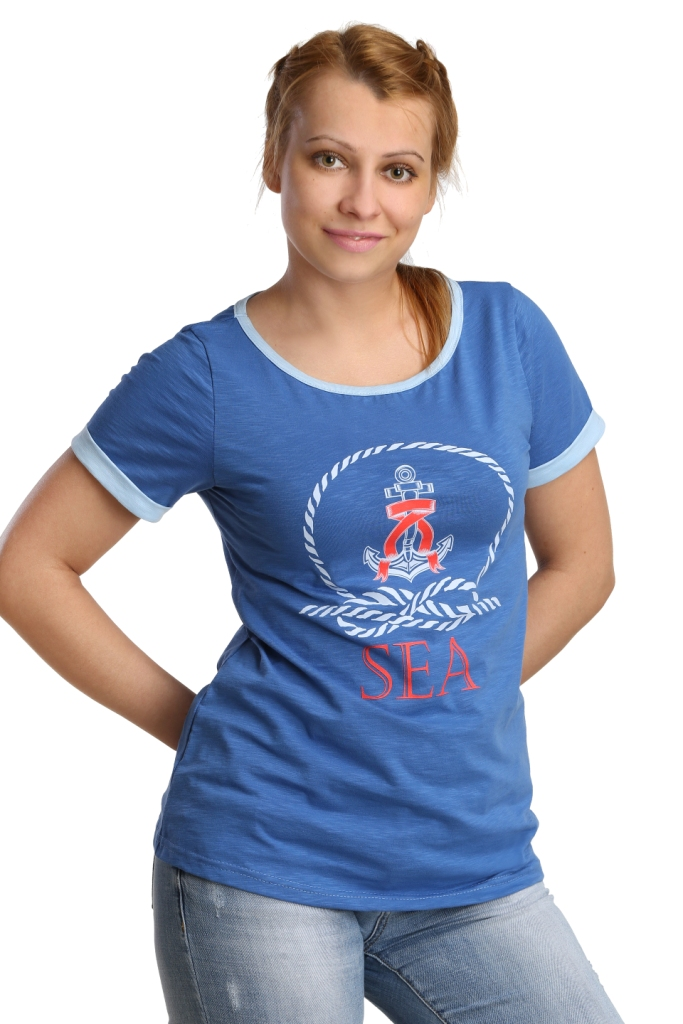 Жен. футболка арт. 16-0187 Синий р. 54 - Женская одежда артикул: 26161