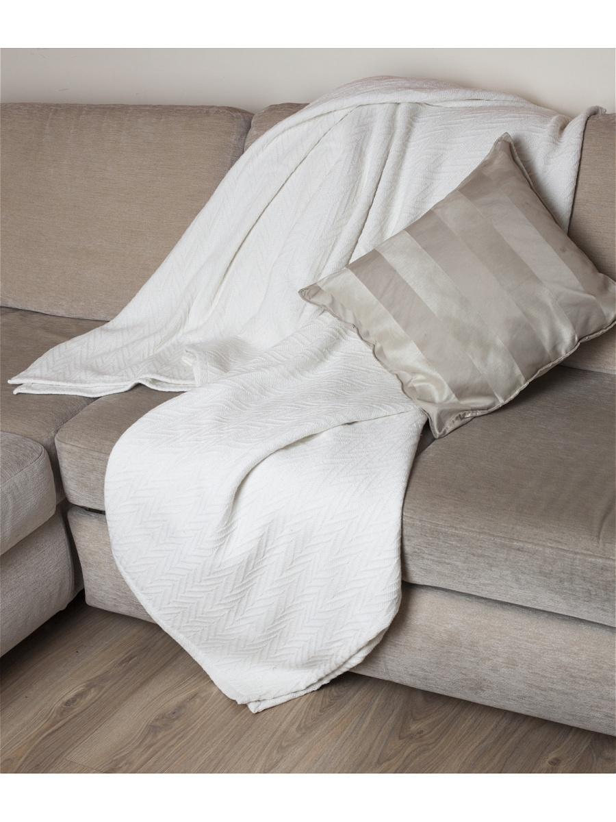 Плед  Ирис  Белый р. 200х240 - Текстиль для дома артикул: 26347